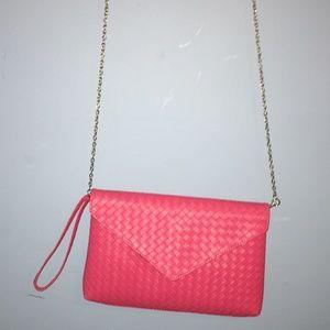 Hot pink letter bag